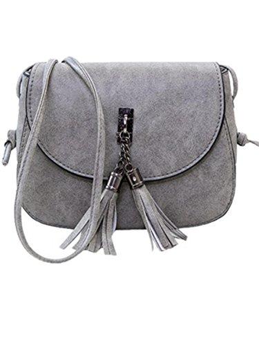 e38969208af9c Ammon Lowen Damen Umhängetasche Mini Kreuz Körper Frauen Handtasche Bodybag  Mini kleine Schale Taschen Grau