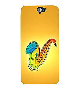 Colourful Saxophone 3D Hard Polycarbonate Designer Back Case Cover for HTC One A9