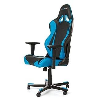 DXRacer Gaming Stuhl, OH/RE0/NB, R-Serie, schwarz-blau, das Original von DX Racer