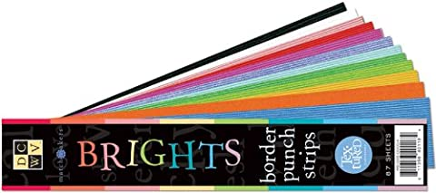 Diecuts with A View Match Makers Textured Brights Border Strips, 2-Inch by 12-Inch, 3 Each of 29 Colors by Die Cuts