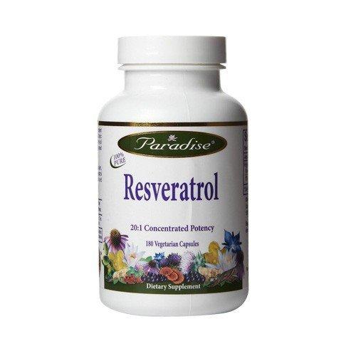 Paradise Herbs - Resveratrol 180 Capsules Végétales