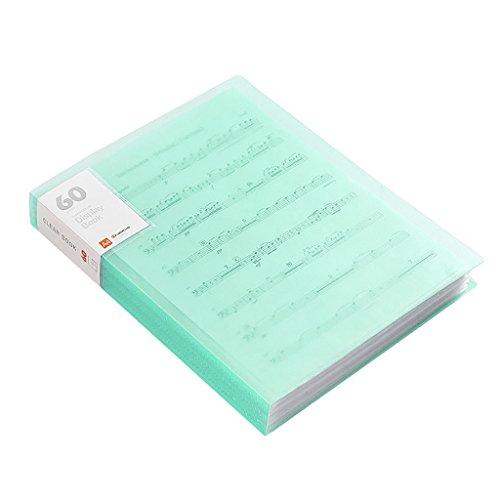 CHAOYANG Neuer Stil A4 Informationsbroschüre, Dokumentenmappe, Ordner, Office-Speicher Desktop-Ordner, Insert-Tasche Multilayer-Ordner. (Farbe : Green, Größe : D)