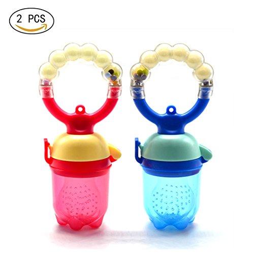2PCS bambini capezzoli Fresh Food Latte Nibbler alimentatore alimentazione valori Baby Supplies bottiglie ciuccio capezzoli capezzolo con un capezzolo ciuccio sostituito (L)