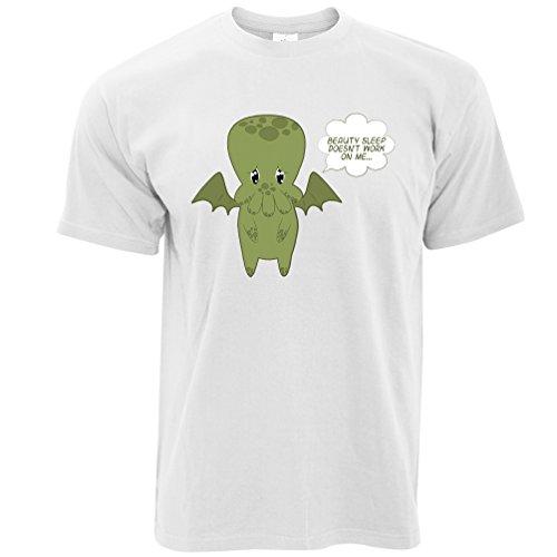 Schönheitsschlaf funktioniert nicht auf mir ... Netter Handdrawn Cthulhu Herren T-Shirt (Beängstigend Kreatur)