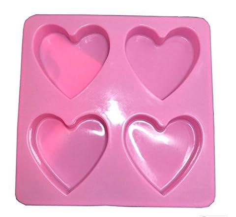 Cosanter Coeur en Forme de Gâteau Silicone au Chocolat Moules Multi-usages Bonbons Jell-O des Cubes de