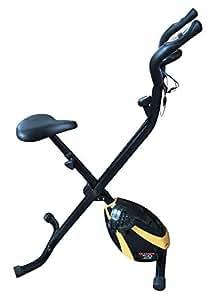 Olympic 2000 Compact Exercise Bike, Black / Yellow