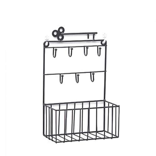 Metall An Der Wand Montiert Lagerregal Wandhalterung Speicherorganisator Schlüsselhalter Mit Haken Eingangsbereich Küchenbüro Werkzeug -