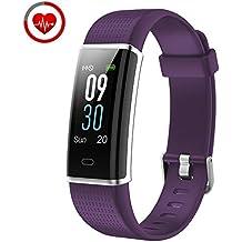 YAMAY Pulsera de Actividad Inteligente con Pulsómetro, Impermeable IP68 Smartwatch con 14 Moda Deportiva,