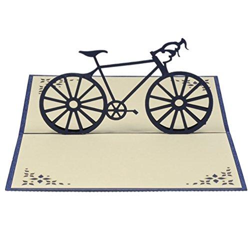Favour Pop Up Karte. Ein filigranes Kunstwerk, dass sich beim Öffnen als Herrenrennrad entfaltet. TF050