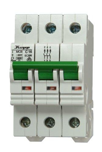 Ge Electric Circuit Breaker (Kopp 723231006 Green Electric Leitungsschutzschalter (MCB) 3-polig, 32 A)