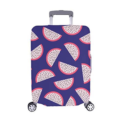 Handgezeichnete Aquarell Drachen Früchte Muster Spandex Trolley Reisegepäck Beschützer Koffer Cover 28,5 X 20,5 Zoll - Fragment-sammlung
