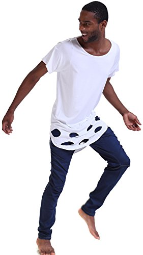 Pizoff Unisex Hip Hop basic Langärmliges Langes Jersey Sweat T-shirt rund Saum P3133-White