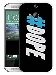 """Humor Gang Dope Hash TagPrinted Designer Mobile Back Cover For """"HTC ONE M8"""" (3D, Matte Finish, Premium Quality, Protective Snap On Slim Hard Phone Case, Multi Color)…"""