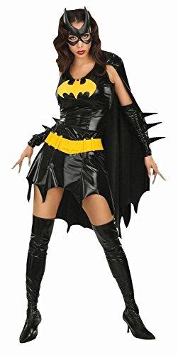 Batgirl Kostüm Superheldin DC Comic Held Schwarze Ritterin Kostüm für Mädchen