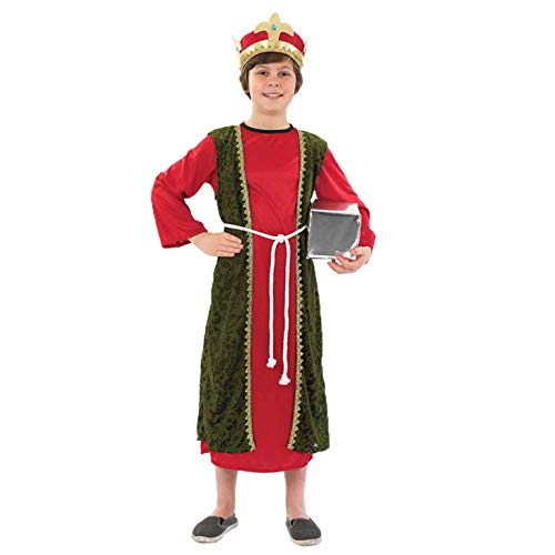 Männer Kinder Kluge Kostüm - Kluger Mann - Rot - Childrens Weihnachten Kostüm - XL - 148cm - Alter 10-12