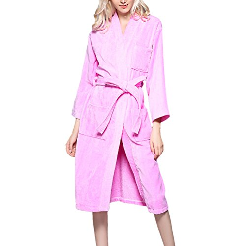Zhhlinyuan Herren und Damen Super Soft Terry Towelling Bath Robe Morgenmäntel Cotton Bademäntel Wrap Housecoat für Adults Gym Shower Spa Hotel (Front Wrap Robe)