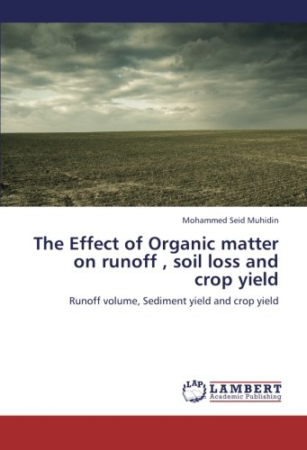 The Effect of Organic matter on runoff , soil loss and crop yield: Runoff volume, Sediment yield and crop yield