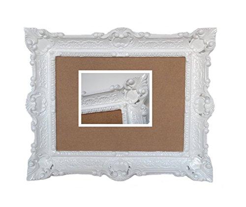 Lnxp Antik Barock BILDERRAHMEN in Weiß 56x46cm RECHTECKIG REPRO Bilder für 30x40cm Oder 40x30 cm...