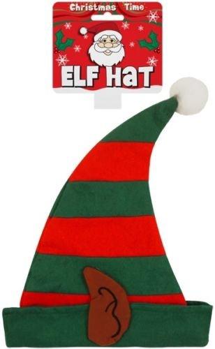Jungen oder Mädchen School Weihnachtsfeier ELF PIXIE Sankt Helfer Hat mit Ohren (Pixie Kostüm Junge)