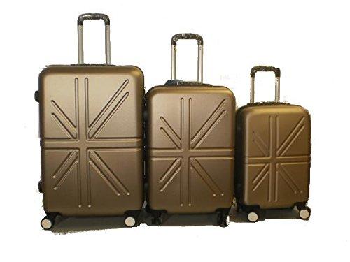 Set 3 Trolley rigide in ABS e policarbonato 4 ruote