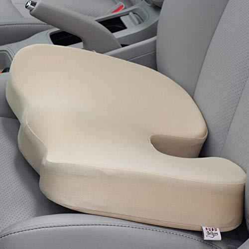 Autositzkissen Fahrersitz Verdickung hoher Autositz aus Baumwolle Comfort Cushion für Auto Büro- & Rollstuhl Sowie Reisen,ohne Rückenlehne,apricot