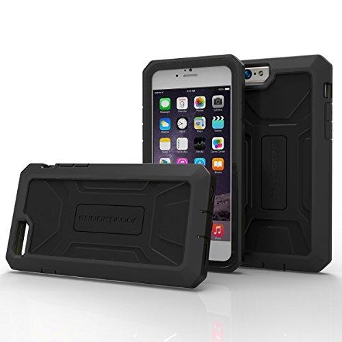 iPhone 6 6S Case with Built-in Screen Protector [Outdoor Series] (Encased® Lifetime Warranty) **New 2016 Release** (Jet Black) Jet Black