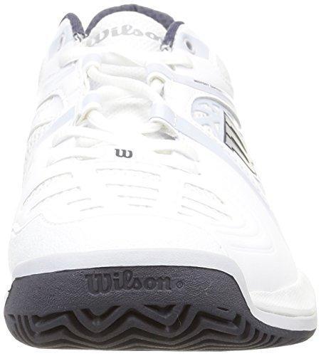 Wilson NVISION ELITE Herren Tennisschuhe Mehrfarbig (White / Pearl Grey / Coal)