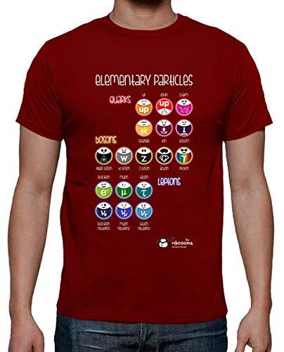 tostadora - Mnner - T-Shirt Elementarteilchen dunkle Rot S