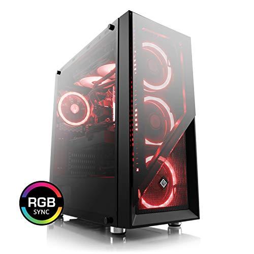 CSL Speed 4900 (Core i7) 4K Gaming PC - Intel Core i7-9700KF 8X 3600MHz, 16GB DDR4 RAM, 500GB SSD, 2000GB HDD, GeForce RTX 2070, DVD, USB 3.1 Gen 2