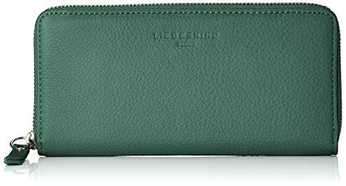Liebeskind Berlin Damen Basic Slg Gigi Wallet Large Geldbörse, Grün (Dark Green), 2.0x10.0x19.0 cm