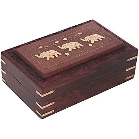 Regalo para la Navidad o de cumpleaños de sus seres queridos Ataúd de madera quemador de incienso - Buda 12