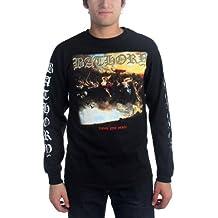 BATHORY - Bathory - Hombres camiseta Fuego Muerte Sangre Longsleeve