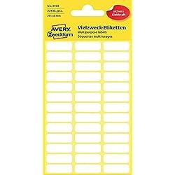 Avery 3073 Blanc 234pièce(s) étiquette auto-collante - étiquettes auto-collantes (Blanc, Papier, 20 mm, 8 mm, 234 pièce(s))