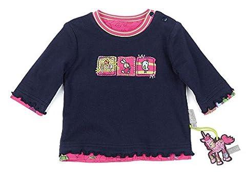 Sigikid Baby - Mädchen Langarmshirt Wendeshirt, Gr. 86, Blau (peacoat 260)