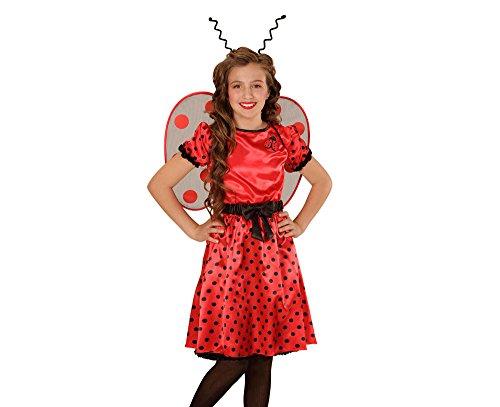 Widmann 03958 - Kinderkostüm Marienkäfer, Kleid, Unterrock, Gürtel mit Schleife, Flügel und (Flügeln Mit Marienkäfer Kostüme Plüsch)