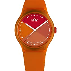 Noon Copenhagen Unisex 33-067DS10 Orange Dial Watch