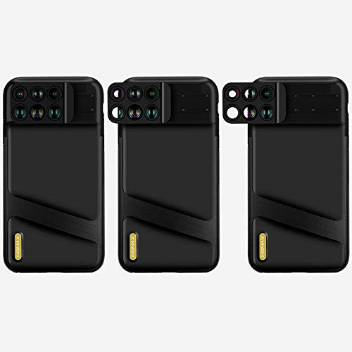 AI Life Holdings Linse Case Hülle 6 in 1 Dual Optics Kamera Kit Wide Angle Back Cover iPhone XS/XS Max Dual-band-retail Kit