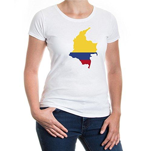 buXsbaum® Girlie T-Shirt Kolumbien-Shape White-z-direct