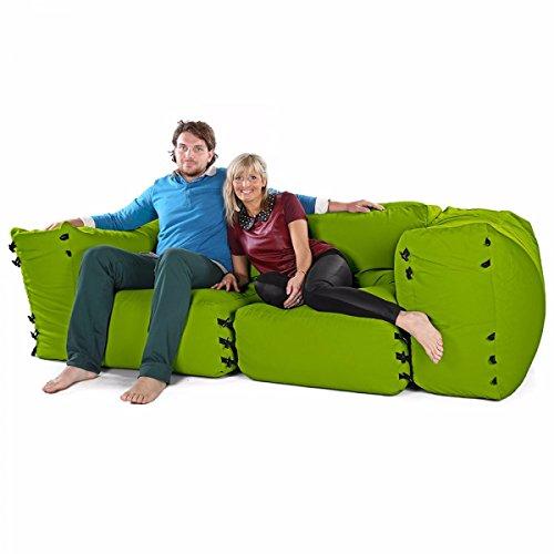 Sacchi di fagioli divano ad angolo modulari - 4pc 2 posti set-verde oliva