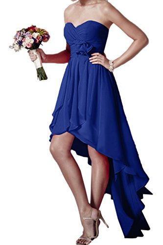 ivyd ressing robe HI-LO forme de cœur Fleurs Mousseline Party Prom robe Lave-vaisselle robe robe du soir bleu roi