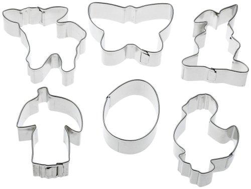 Zenker Oster-Ausstechformen Set, Stahlblech, Silber 9 x 5 x 3 cm, 6-Einheiten