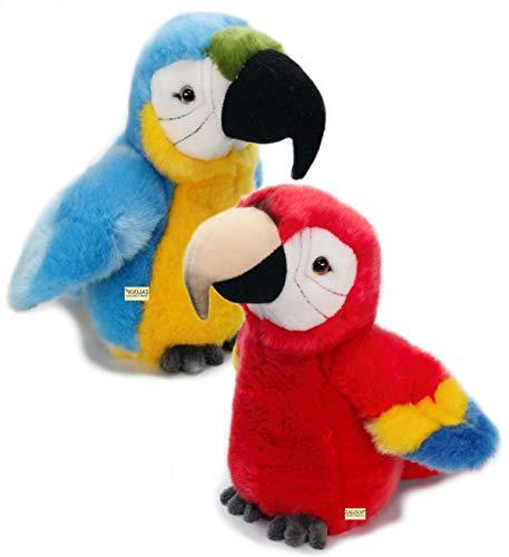 Papagei Ara Plüschtier Kuscheltier Stofftier Plüschpapagei 176 von Zaloop® (rot)