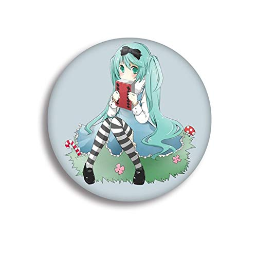 CAR-TOBBY 1pcs Hatsune Miku Cosplay Badge Vocaloid Rin Len Brooch Pin Collection Badge for Backpack Clothes(F H10)