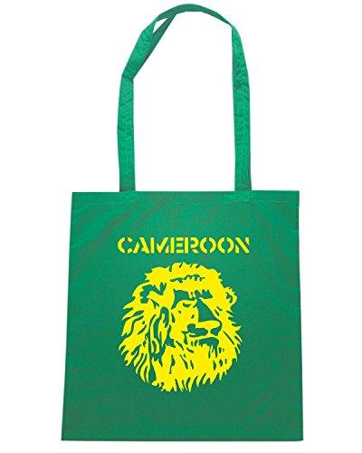 T-Shirtshock - Borsa Shopping T0704 cameroon calcio ultras Verde