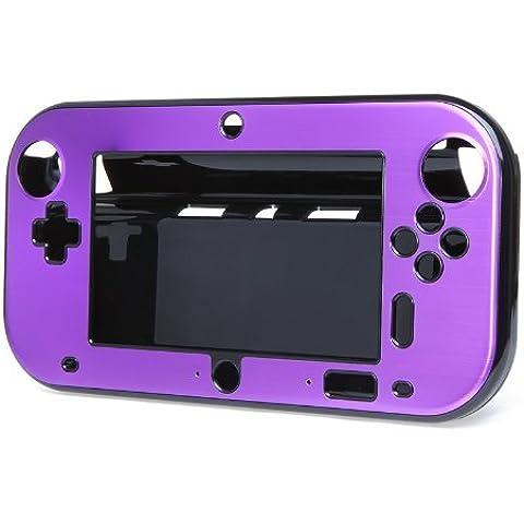 SODIAL(R) Aluminio de la Caja Cubierta para Nintendo Wii U Mango de Controladores Remotos de juegos - purpura (sin paquete por