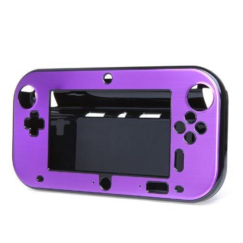 Preisvergleich Produktbild TOOGOO(R)Aluminium Deckel / Schutzhuelle fuer Nintendo Wii U Gamepad-Fernbedienung (Lila)
