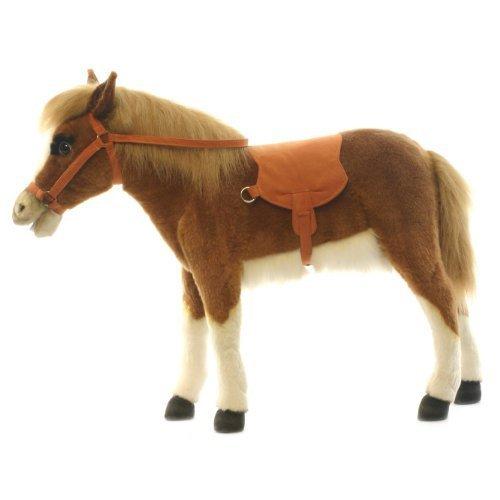 uk-mainland-delivery-only-plush-soft-toysit-on-chesnut-horse-pony-by-hansa-by-hansa