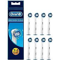 Oral-B Precision Clean Aufsteckbürsten, Umschließt jeden Zahn einzeln für eine optimale Reinigung, 7+1 Stück
