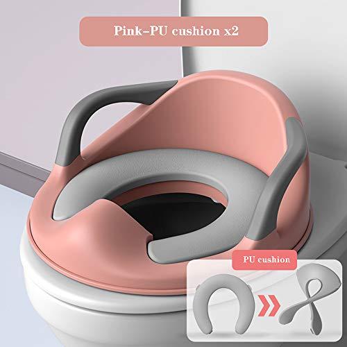 Asiento Inodoro para Niños Reductor de WC para Bebé Tapa WC con reposabrazos,respaldo,tapizado,diseño...