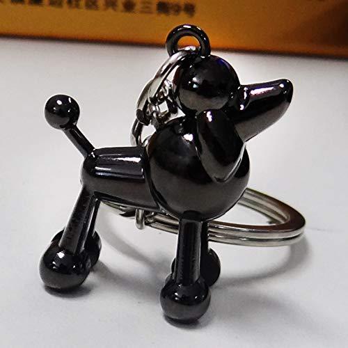 XYAYA Schlüsselbund 3D Pudel Schlüsselbund Niedlichen Schlüsselanhänger Für Frauen Hündchen Schlüsselanhänger Schlüsselanhänger Kreative Portachiavi Chaveiro Llaveros Taschenanhänger, (Niedlichen Pudel)